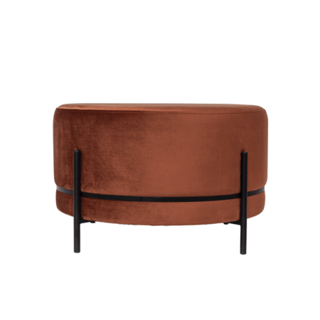 Dome Deco | Baba stool on stand with velvet fabric M - in Poefs